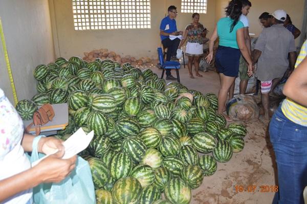 Segunda entrega de alimentos do PAA em Colônia do Gurgueia
