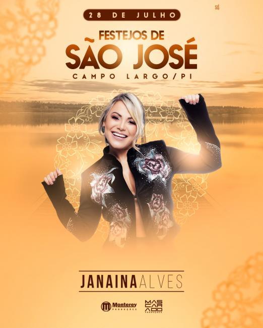Clube Campolarguense  traz Janaína Alves pra finalizar os festejos de São José em Campo Largo-PI
