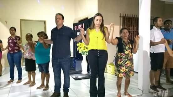 Diego Teixeira e Ana Tércia comemoram 'Dia do Amigo' com os idosos de Amarante