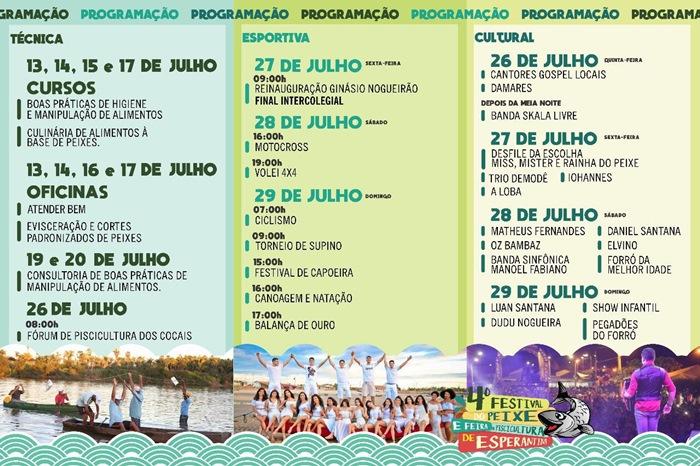 Confira a programação da Festa do Peixe em Esperantina