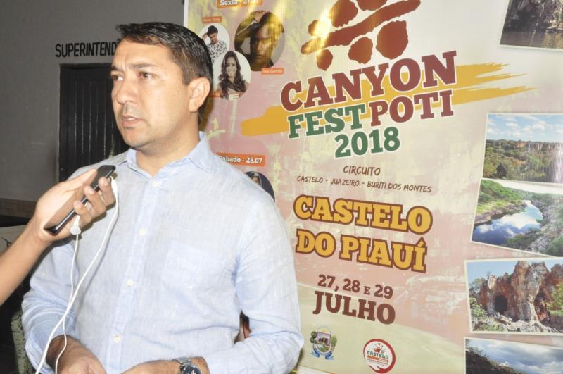 Prefeitura de Castelo do Piauí realizou o lançamento do Canyon Fest Poti 2018