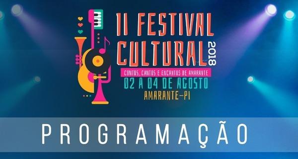 Prefeitura Municipal de Amarante anuncia novo local para o II Festival Cultural; veja