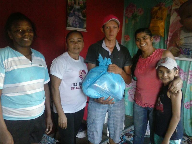 1ª igreja Batista entrega cestas básicas para familias carentes de São Gonçalo do Gurguéia