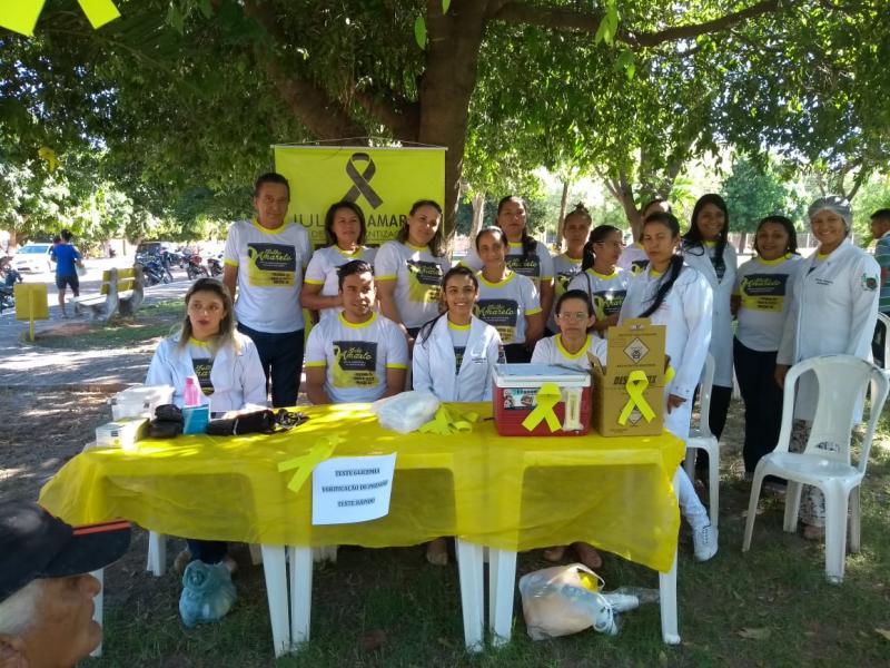 Secretaria de saúde de Pau D'Arco realiza campanha Julho Amarelo
