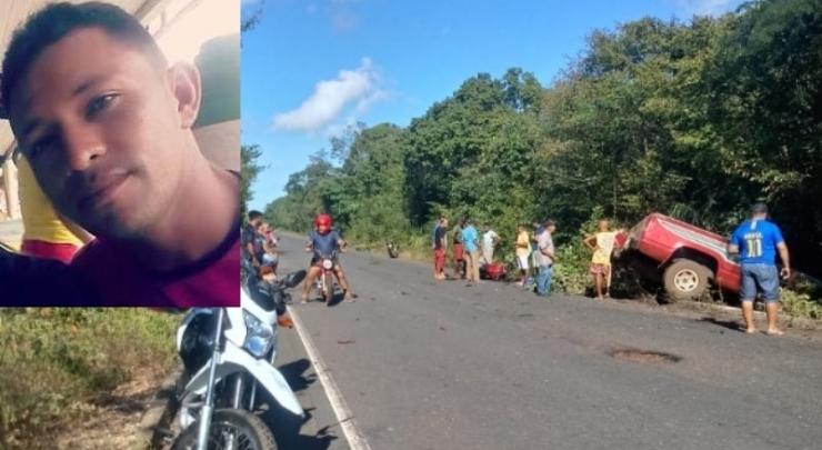 Colisão entre moto e caminhonete deixa um morto no interior do Piauí