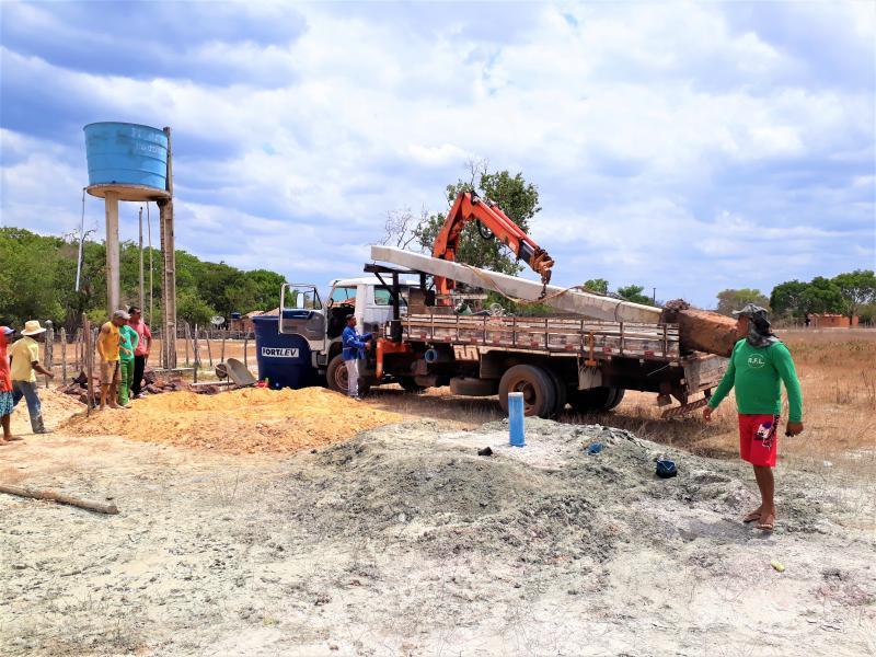 Prefeitura de Joaquim Pires realiza perfuração e aprofundamento de poços tubulares na zona rural