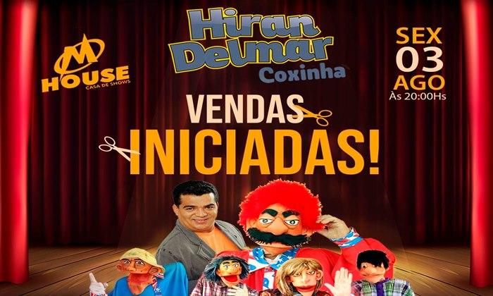 Humorista Hiran Delmar em grande show nesta sexta em Esperantina