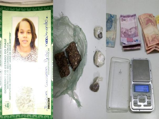 Mulher é presa por tráfico de drogas em Oeiras