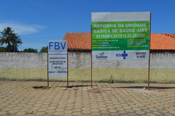 Prefeitura inicia reforma de Postos de Saúde em Guadalupe