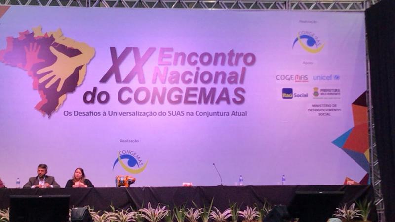 Assistência social de Água Branca participa do XX Encontro Nacional do CONGEMAS