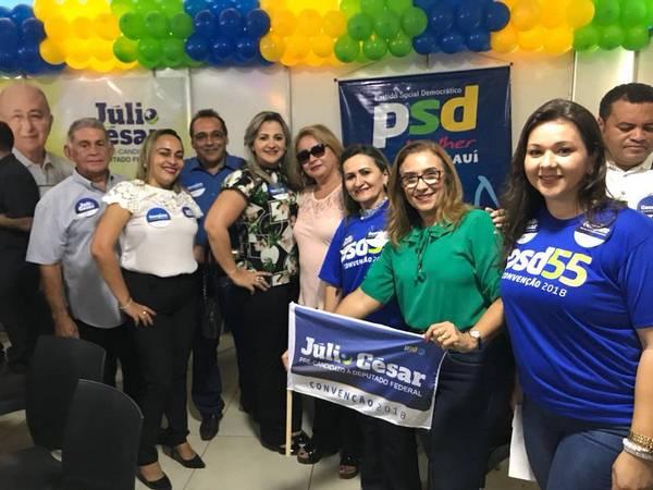 Prefeita Neidinha e Lideranças de Guadalupe presentes na Convenção do PSD