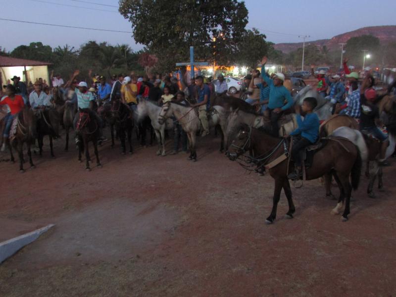 Noite dos vaqueiros do festejos Bom Jesus da Lapa da comunidade saquinho