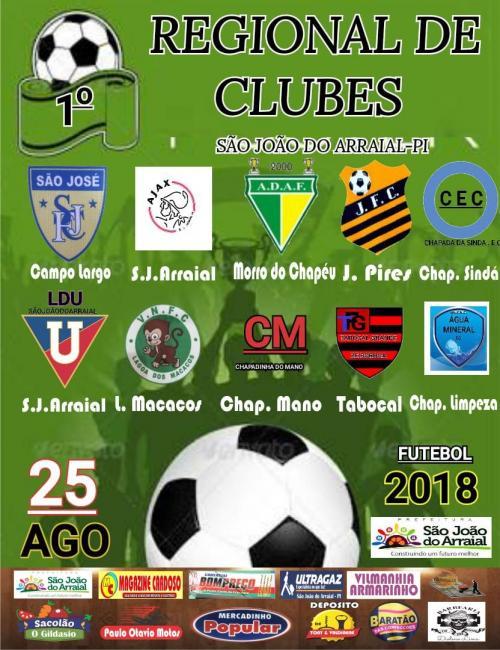 Primeiro regional de clubes de futebol amador será realizado em São João do Arraial