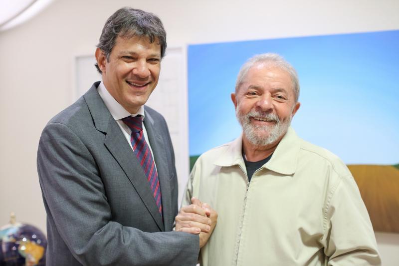 PT define Haddad como vice de Lula e fecha aliança com PCdoB