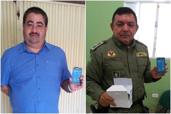 Prefeito Antônio Neto doa aparelho celular para a Polícia Militar