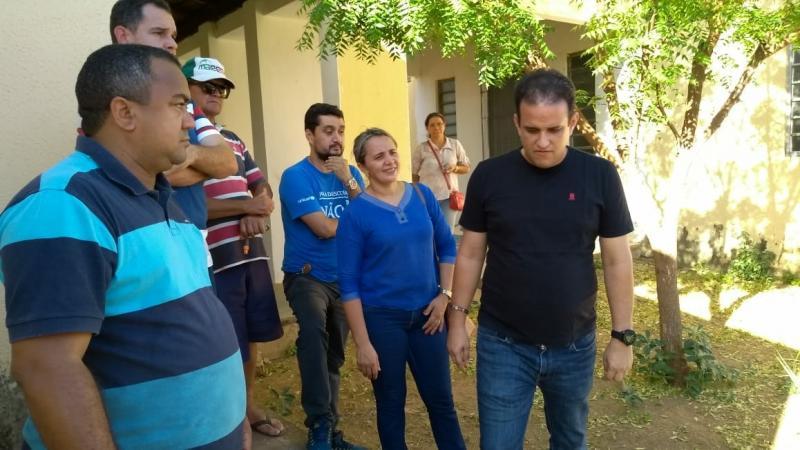 """""""O prédio será um modelo de escola para o município"""", disse Diego Teixeira sobre sede da Uespi"""