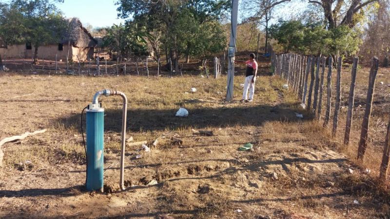 Prefeitura de Pau D'arco instala bomba d'água na localidade Chatinho