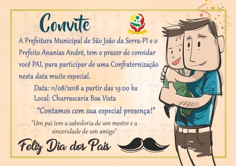 Prefeitura Municipal convida pais para festa na churrascaria Boa Vista