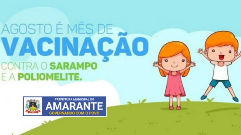 Amarante deve vacinar 1.160 crianças contra Sarampo e Poliomielite