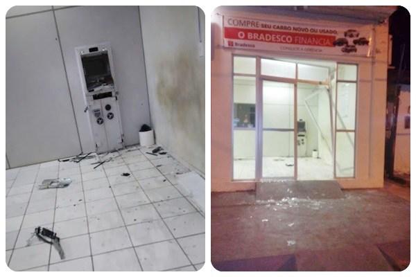 Bandidos explodem posto de agência bancária no interior do Maranhão