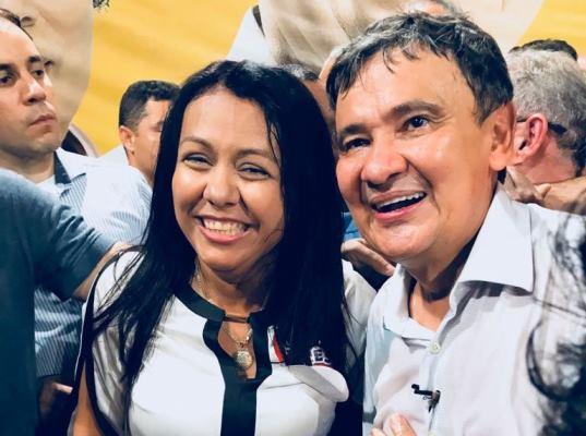 Prefeita Doquinha participou da convenção que homologou a candidatura de Wellington Dias a reeleição