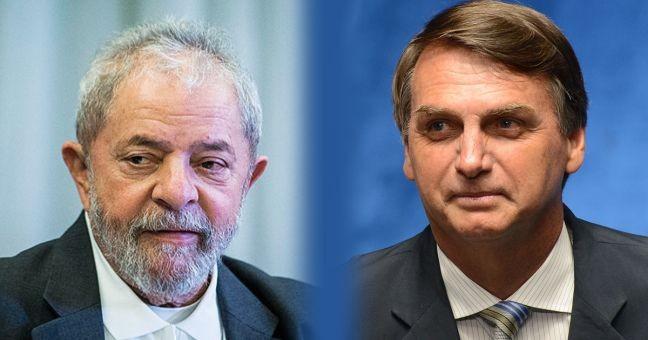 Ibope aponta 2º turno entre Lula e Bolsonaro em 2018