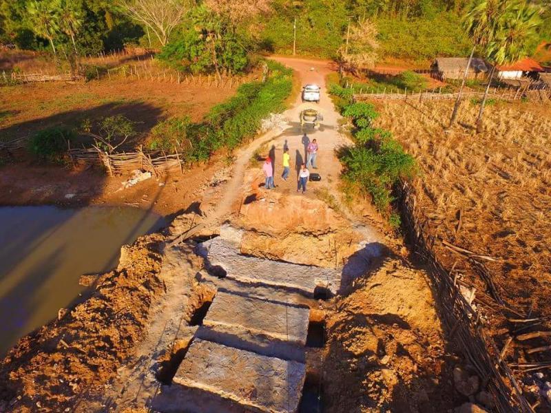 Obras da ponte do povoado Cabaceiro seguem em ritmo acelerado