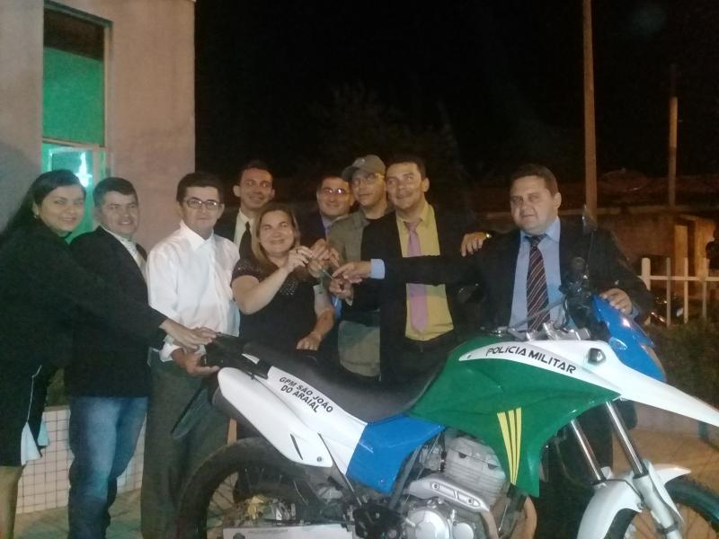 GPM de São João do Arraial recebeu uma motocicleta