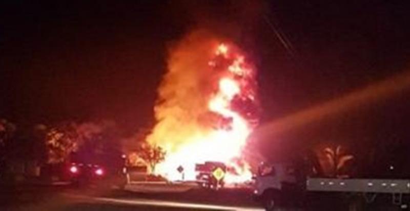 Motorista morre em explosão de caminhão-tanque na BR-316