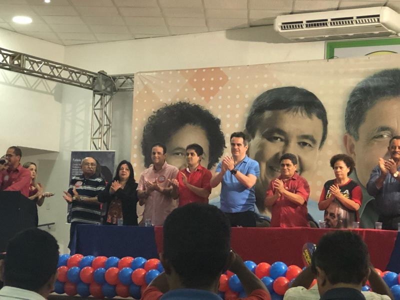 Prefeito de Amarante participa do lançamento da candidatura de Cícero Magalhães