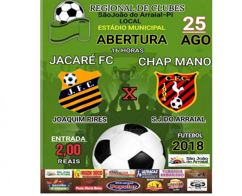 Regional de clubes de futebol amador terá início no próximo dia 25 de agosto em São João do Arraial