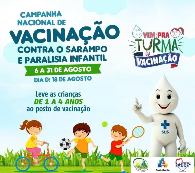 Vacinação contra o sarampo segue até 31 de agosto em Francisco Ayres