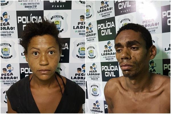 Casal é preso acusado de arrombar distribuidora em Teresina