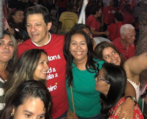 Prefeita Doquinha participou de caminhada com Wellington Dias e Fernando Haddad em Teresina