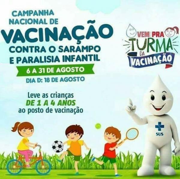 Campanha de vacinação contra a poliomielite e o sarampo em Gilbués-PI