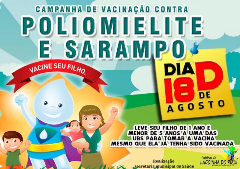 prefeitura municipal de Lagoinha do Piauí realiza o dia D vacinação contra pólio e sarampo