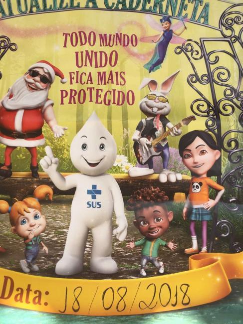 Olho D'água do Piauí na campanha de vacinação contra a Poliomielite e Sarampo