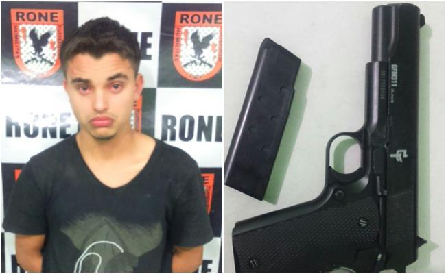 Suspeito é preso após ameaçar populares com arma em Teresina