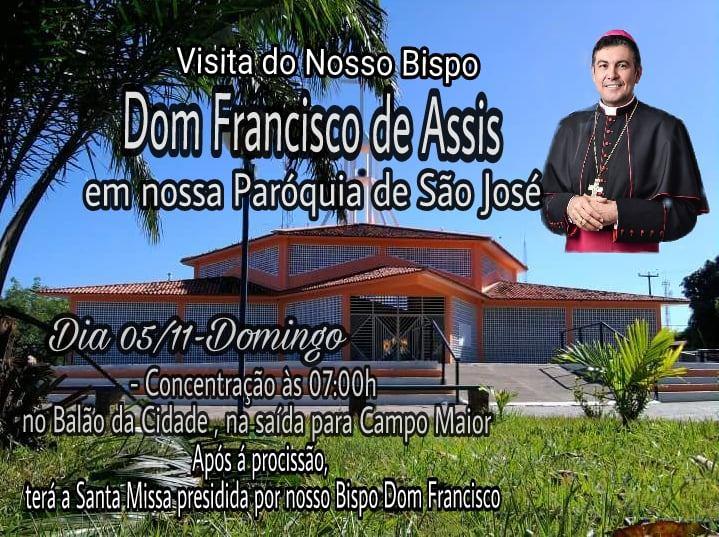 Comunidade cabeceirense se prepara para receber a 1ª visita do Bispo Dom Francisco de Assis