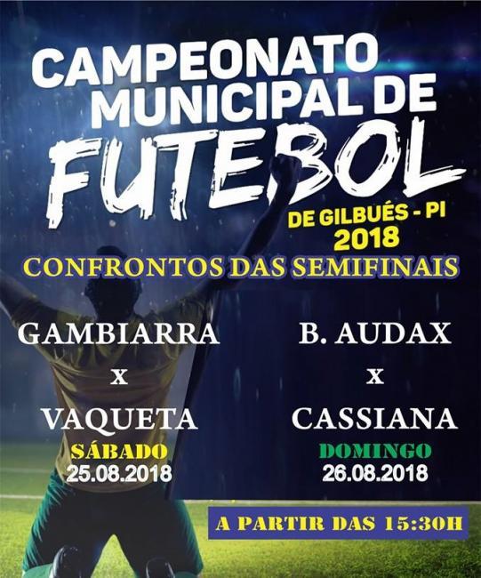 Definidos os semifinalistas do Campeonato Municipal de Futebol de Gilbués