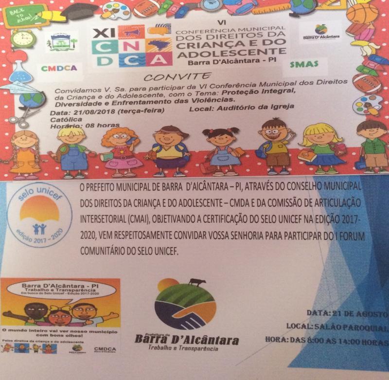 Secretaria de Assistência Social Realizará nesta terça-feira a VI Conferência Municipal