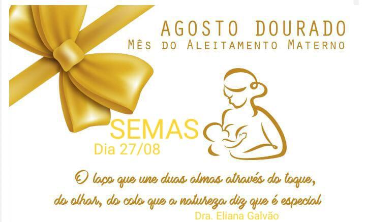 Campanha Agosto Dourado: Mês do aleitamento materno em Brasileira