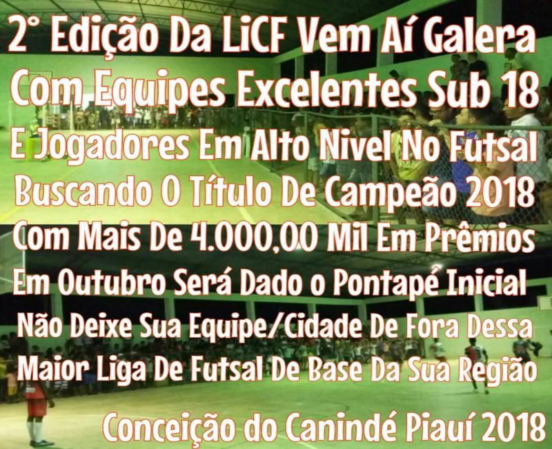 Inscrições para 2ª edição da liga conceiçãonense de futsal masculino estão abertas