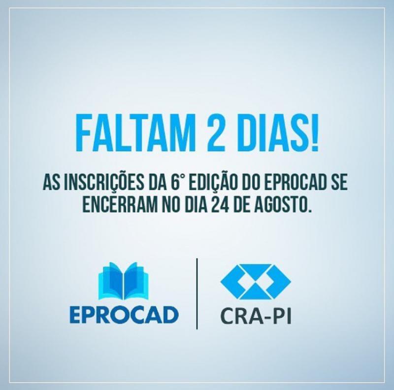 CRA-PI promove o 6º EPROCAD que acontece neste sábado