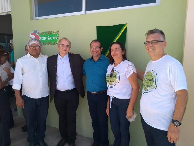 Prefeito Osvaldo Bonfim participa da inauguração do Banco de Alimentos da Nova Ceasa