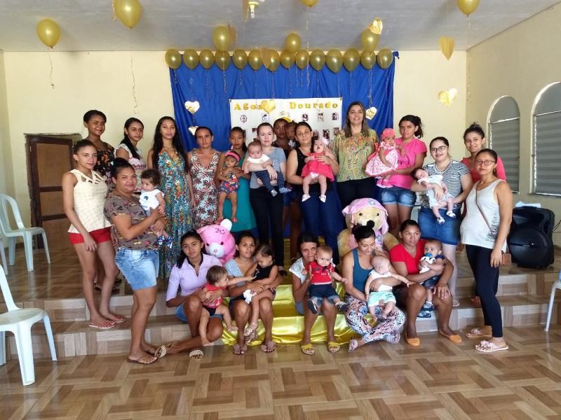 Secretaria de Saúde de Barra D'Alcântara comemora Agosto Dourado