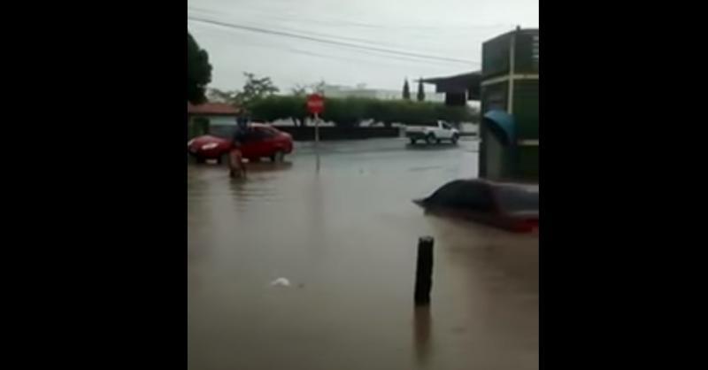 Chuva alaga ruas, casas e carros ficam submersos no PI