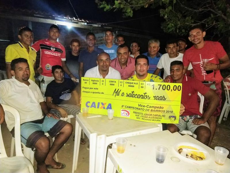 Demerval Lobão | Time Piaçava Futebol Club comemora título de vice-campeão