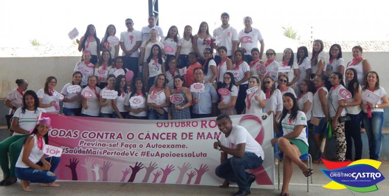 Caminhada e palestra marcam ações do outubro rosa em Cristino Castro