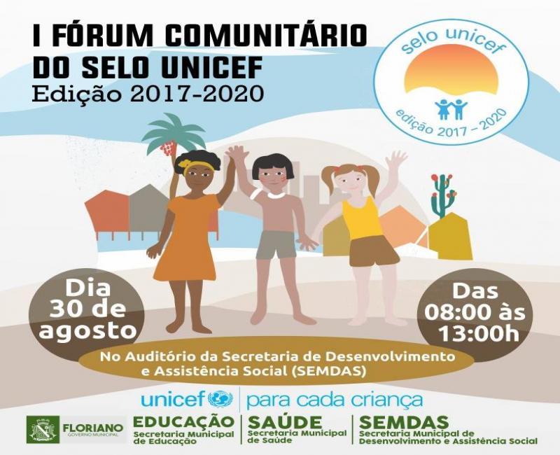 I Fórum Comunitário do selo UNICEF